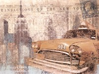 Manhattan Cab Fine Art Print