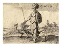 The Greek Gods Minerva Fine Art Print