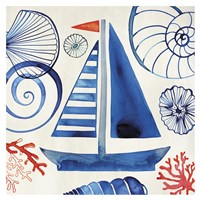 "Come Sail Away by Margaret Berg - 13"" x 13"""
