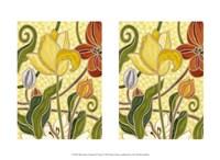 "Mini Sunny Garden II (2-Up) by Karen Deans - 13"" x 10"""
