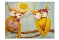 """Hoo's Branch for Two by Marabeth Quin - 19"""" x 13"""""""