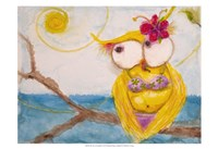 """Ms. Hoo in Paradise by Marabeth Quin - 19"""" x 13"""""""