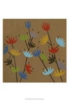 Retro Blossoms I Fine Art Print