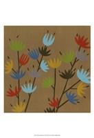 Retro Blossoms II Fine Art Print