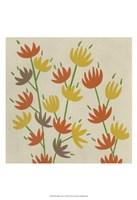"""Retro Blossoms IV by Chariklia Zarris - 13"""" x 19"""", FulcrumGallery.com brand"""