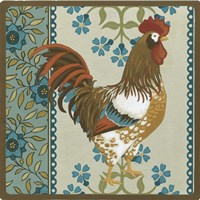 Cottage Rooster I by June Erica Vess - various sizes