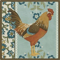 Cottage Rooster IV by June Erica Vess - various sizes