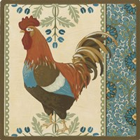 Cottage Rooster V Framed Print
