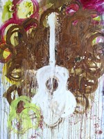 White Guitar Fine Art Print