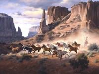 Sandstone & Stolen Horses Fine Art Print