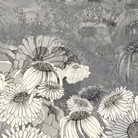 Flowers on Grey II Fine Art Print