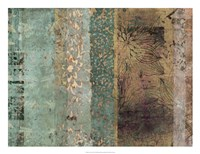 "Lotus Patina I by Ricki Mountain - 26"" x 20"" - $37.49"