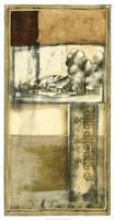 "Printed Nostalgia II by Jennifer Goldberger - 22"" x 40"""