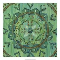 Aquarian Rosette I Framed Print