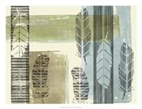 "Stamped Feathers I by Jennifer Goldberger - 26"" x 20"""