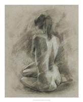 Charcoal Figure Study II Framed Print