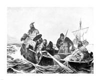 Norsemen Landing in Iceland Framed Print