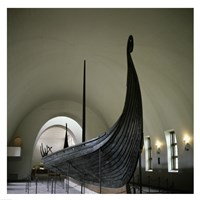 9th Century Viking Ships Oslo, Norway Framed Print