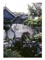 Garden with Dragon on Temple Wall Shanghai, China - various sizes