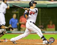 Nick Swisher 2014 Batting Action Fine Art Print