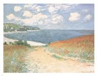 Chemin Dans Les Bles A Pourville by Claude Monet - various sizes, FulcrumGallery.com brand