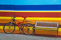 Bicycle near a bench, Iceland - various sizes