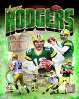 Aaron Rodgers 2014 Portrait Plus Fine Art Print