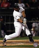Jose Abreu 2014 Action Hitting Baseball Fine Art Print