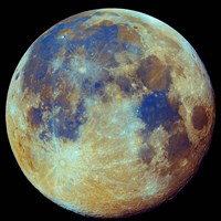 Colored moon, (geological differences) Fine Art Print