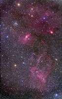 Nebulosity around the open cluster Messier 52, including the Bubble Nebula by Alan Dyer - various sizes