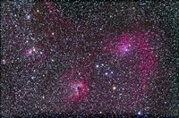 Area of Flaming Star Nebula and complex in Auriga by Alan Dyer - various sizes