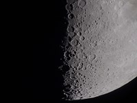 South terminator of 7 day moon by Alan Dyer - various sizes