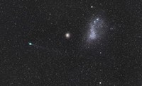 Comet Lemmon next to the Small Magellanic Cloud Fine Art Print