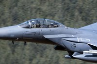 F-15E Strike Eagle low flying over Wales, United Kingdom by Andrew Chittock - various sizes