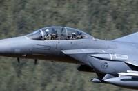 F-15E Strike Eagle low flying over Wales, United Kingdom Fine Art Print