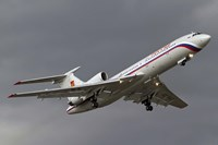 A Tupolev Tu-154M in flight over Bulgaria Fine Art Print