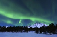 Aurora Borealis over Nova Mountain Wilderness, Norway Fine Art Print