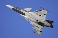 Hungarian Air Force Saab JAS-39C Gripen fighter plane Fine Art Print