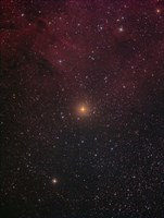 Mu Cephei, a red supergiant in the constellation Cepheus Fine Art Print