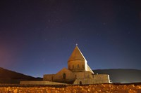 Starry night sky above Saint Thaddeus Monastery, Iran Fine Art Print