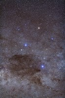 The Southern Cross and Coalsack Nebula in Crux Fine Art Print