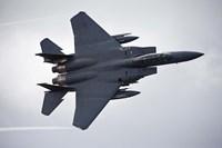 F-15E Strike Eagle flying over North Wales Fine Art Print