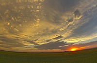 Cloudscape at sunset, Alberta, Canada Fine Art Print