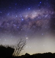 The Milky Way above a rural landscape in San Pedro, Argentina Fine Art Print