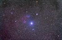 IC 59 and IC 62 faint reflection nebulae near Gamma Cassiopeia Fine Art Print