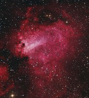 Messier 17, The Swan Nebula in Sagittarius Fine Art Print