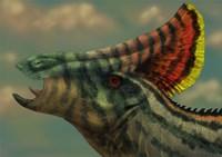 Olorotitan dinosaur portrait Fine Art Print