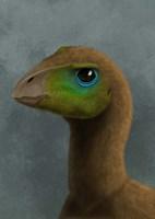 Hypsilophodon dinosaur portrait Fine Art Print