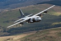 A C-130 Hercules of the Royal Air Force flying over North Wales by Andrew Chittock - various sizes