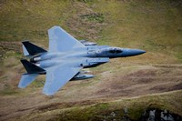 F-15E Strike Eagle low flying over North Wales Fine Art Print